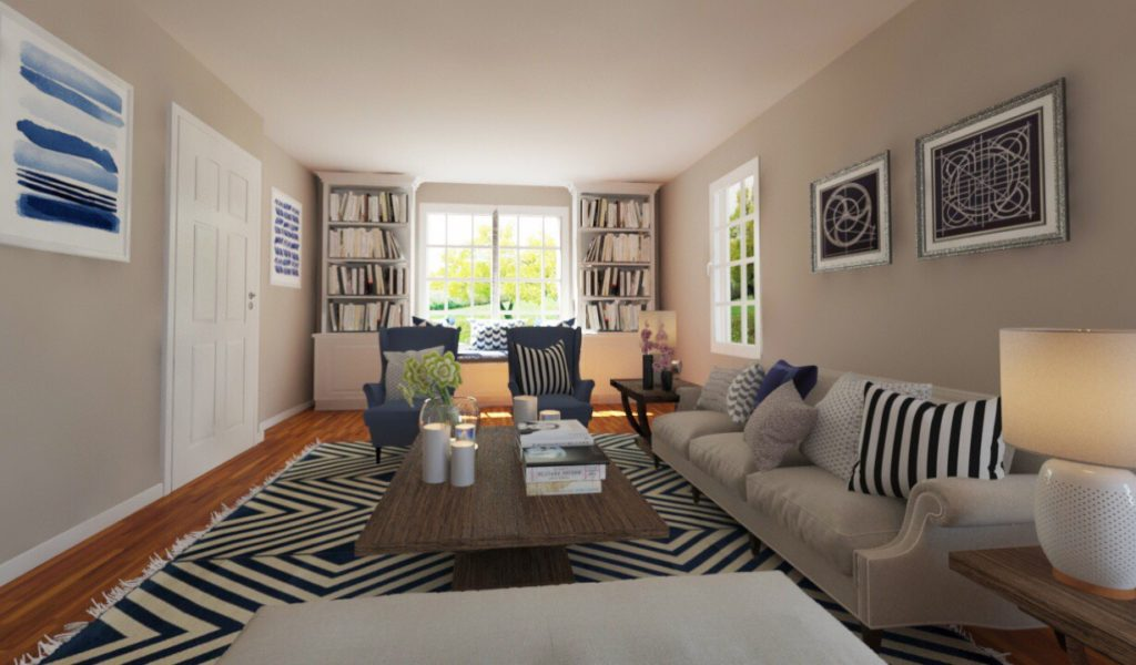 Interior Design Staging Family Room - After